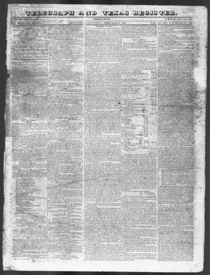 Primary view of object titled 'Telegraph and Texas Register (Houston, Tex.), Vol. 11, No. 5, Ed. 1, Wednesday, February 4, 1846'.