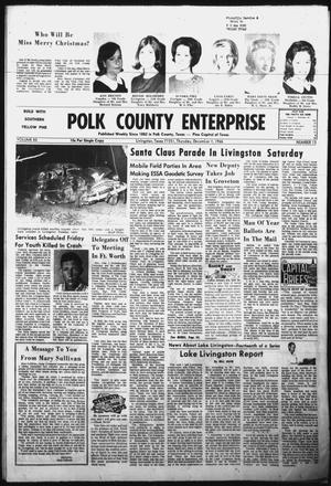 Primary view of object titled 'Polk County Enterprise (Livingston, Tex.), Vol. 85, No. 13, Ed. 1 Thursday, December 1, 1966'.