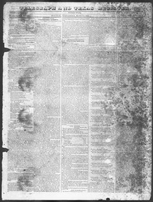 Primary view of object titled 'Telegraph and Texas Register (Houston, Tex.), Vol. 11, No. 9, Ed. 1, Wednesday, March 4, 1846'.