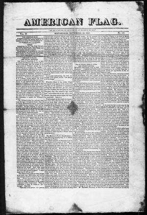 American Flag. (Matamoros, Tamaulipas, Mexico), Vol. 2, No. 137, Ed. 1, Wednesday, September 29, 1847