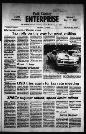Primary view of object titled 'Polk County Enterprise (Livingston, Tex.), Vol. 100, No. 99, Ed. 1 Sunday, December 12, 1982'.