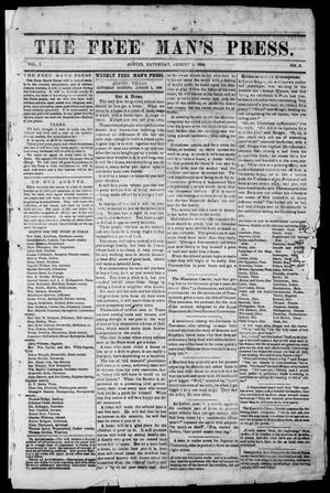 Primary view of object titled 'The Free Man's Press (Austin, Tex.), Vol. 1, No. 3, Ed. 1, Saturday, August 1, 1868'.