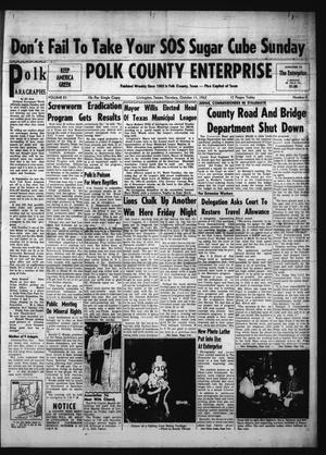 Primary view of object titled 'Polk County Enterprise (Livingston, Tex.), Vol. 81, No. 5, Ed. 1 Thursday, October 11, 1962'.
