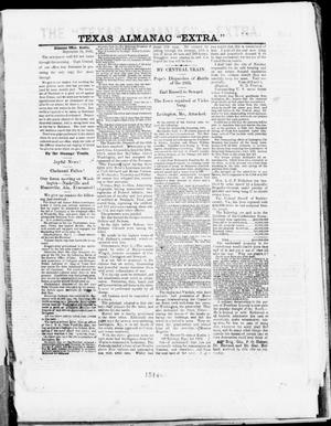 "Primary view of object titled 'The Texas Almanac -- ""Extra."" (Austin, Tex.), Thursday, September 18, 1862'."