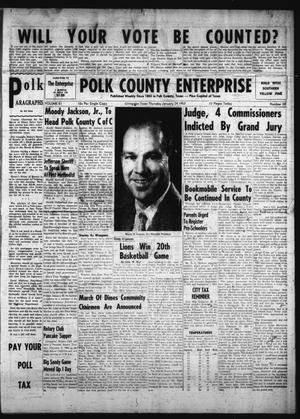 Primary view of object titled 'Polk County Enterprise (Livingston, Tex.), Vol. 81, No. 20, Ed. 1 Thursday, January 24, 1963'.