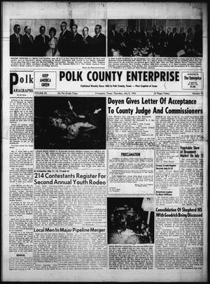 Primary view of object titled 'Polk County Enterprise (Livingston, Tex.), Vol. 80, No. 43, Ed. 1 Thursday, July 5, 1962'.