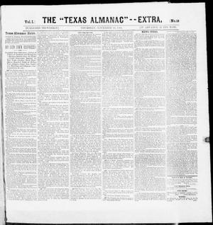 "Primary view of object titled 'The Texas Almanac -- ""Extra."" (Austin, Tex.), Vol. 1, No. 18, Ed. 1, Thursday, November 20, 1862'."