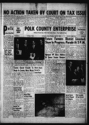 Primary view of object titled 'Polk County Enterprise (Livingston, Tex.), Vol. 80, No. 31, Ed. 1 Thursday, April 12, 1962'.