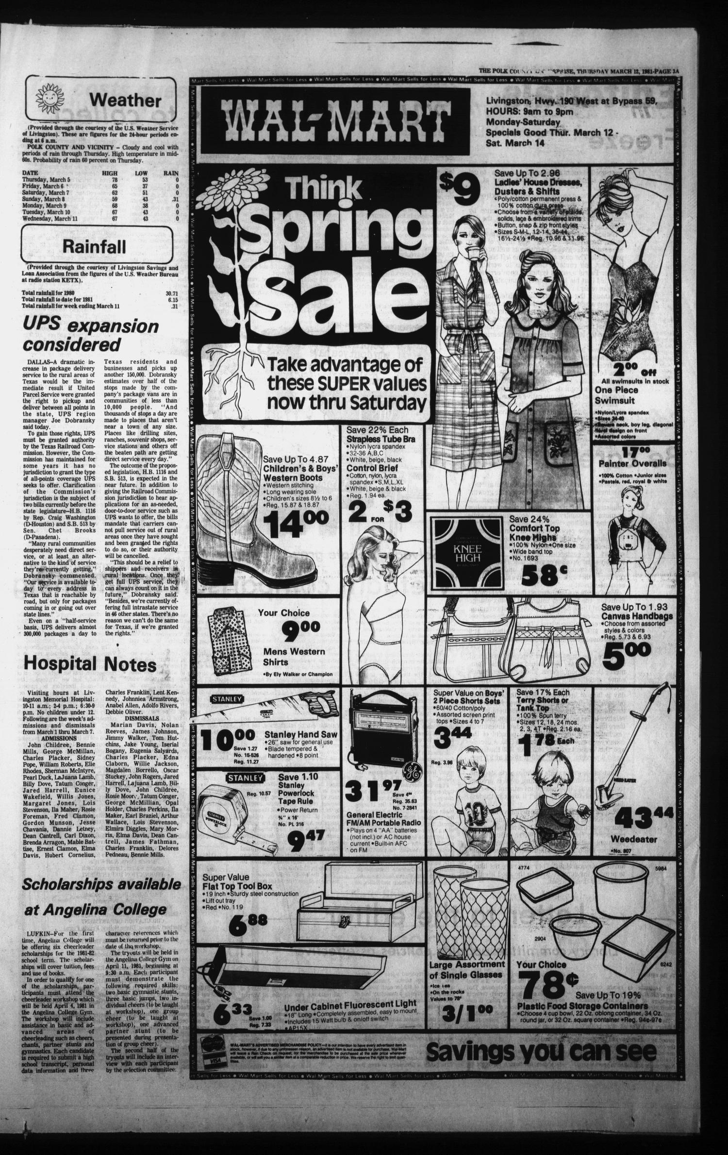Polk County Enterprise (Livingston, Tex.), Vol. 99, No. 21, Ed. 1 Thursday, March 12, 1981                                                                                                      [Sequence #]: 3 of 34
