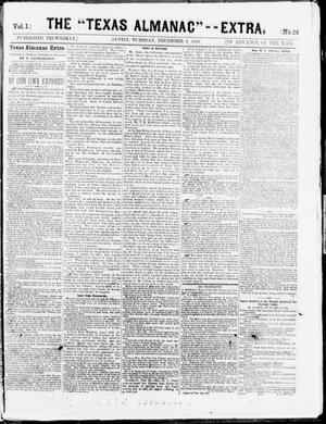 "The Texas Almanac -- ""Extra."" (Austin, Tex.), Vol. 1, No. 26, Ed. 1, Tuesday, December 9, 1862"