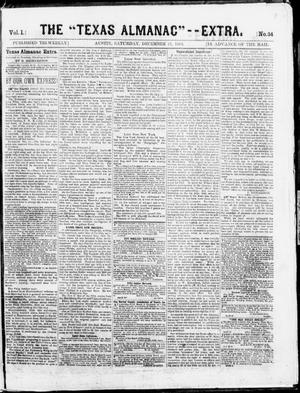 "Primary view of object titled 'The Texas Almanac -- ""Extra."" (Austin, Tex.), Vol. 1, No. 34, Ed. 1, Saturday, December 27, 1862'."