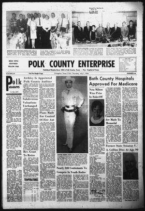 Primary view of object titled 'Polk County Enterprise (Livingston, Tex.), Vol. 84, No. 44, Ed. 1 Thursday, July 7, 1966'.