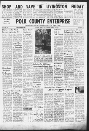 Primary view of object titled 'Polk County Enterprise (Livingston, Tex.), Vol. 85, No. 51, Ed. 1 Thursday, August 24, 1967'.