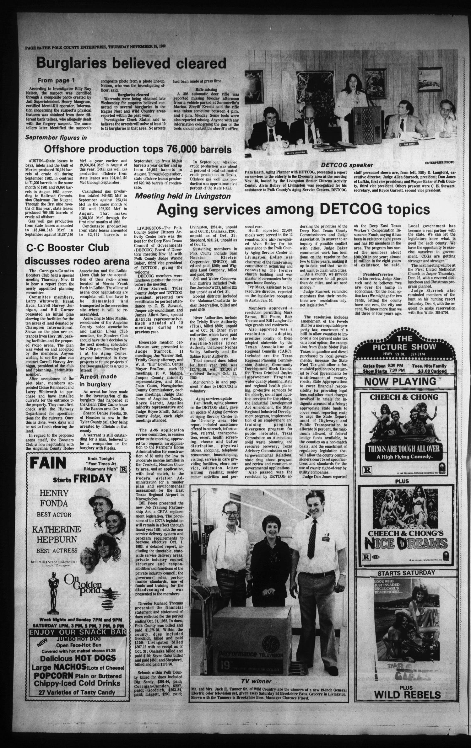 Polk County Enterprise (Livingston, Tex.), Vol. 100, No. 94, Ed. 1 Thursday, November 25, 1982                                                                                                      [Sequence #]: 2 of 42