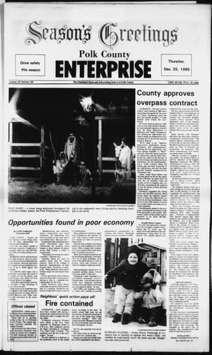 Primary view of object titled 'Polk County Enterprise (Livingston, Tex.), Vol. 104, No. 102, Ed. 1 Thursday, December 25, 1986'.