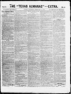 "The Texas Almanac -- ""Extra."" (Austin, Tex.), Vol. 1, No. 58, Ed. 1, Saturday, February 21, 1863"