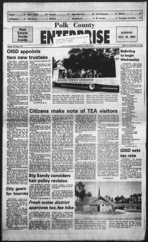 Primary view of object titled 'Polk County Enterprise (Livingston, Tex.), Vol. 112, No. 83, Ed. 1 Sunday, October 16, 1994'.