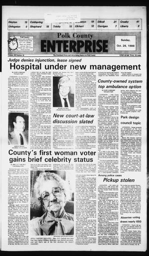 Primary view of object titled 'Polk County Enterprise (Livingston, Tex.), Vol. 103, No. 10, Ed. 1 Sunday, October 26, 1986'.