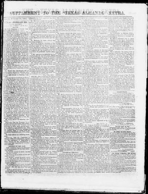 "Primary view of object titled 'Supplement to The ""Texas Almanac""-- Extra. (Austin, Tex.), Monday, February 23, 1863'."