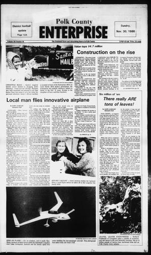 Primary view of object titled 'Polk County Enterprise (Livingston, Tex.), Vol. 104, No. 96, Ed. 1 Sunday, November 30, 1986'.