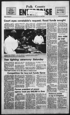 Primary view of object titled 'Polk County Enterprise (Livingston, Tex.), Vol. 112, No. 96, Ed. 1 Thursday, December 1, 1994'.