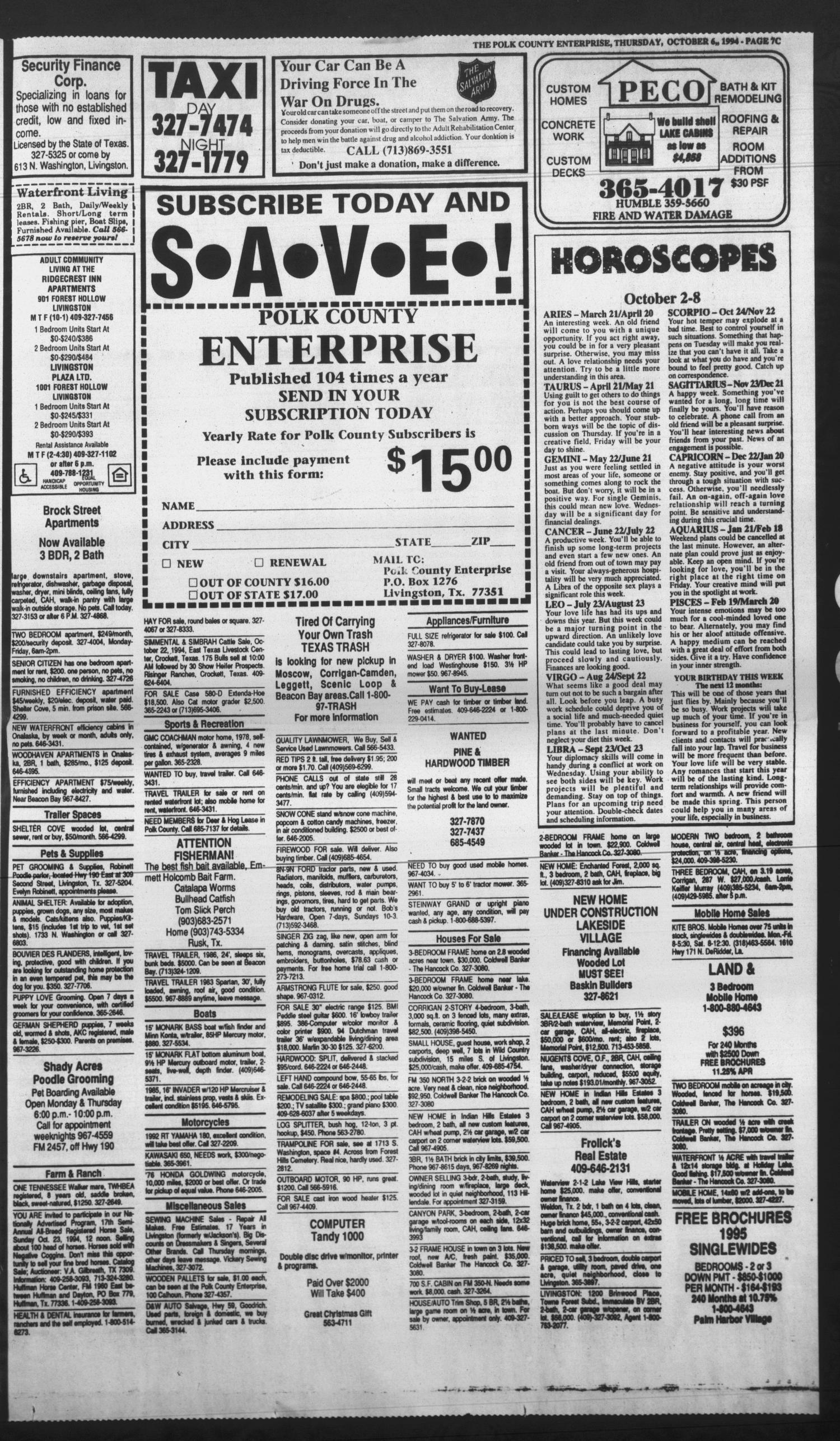 Polk County Enterprise (Livingston, Tex ), Vol  112, No  80