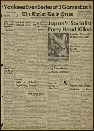The Taylor Daily Press (Taylor, Tex.), Vol. 47, No. 253, Ed. 1 Wednesday, October 12, 1960