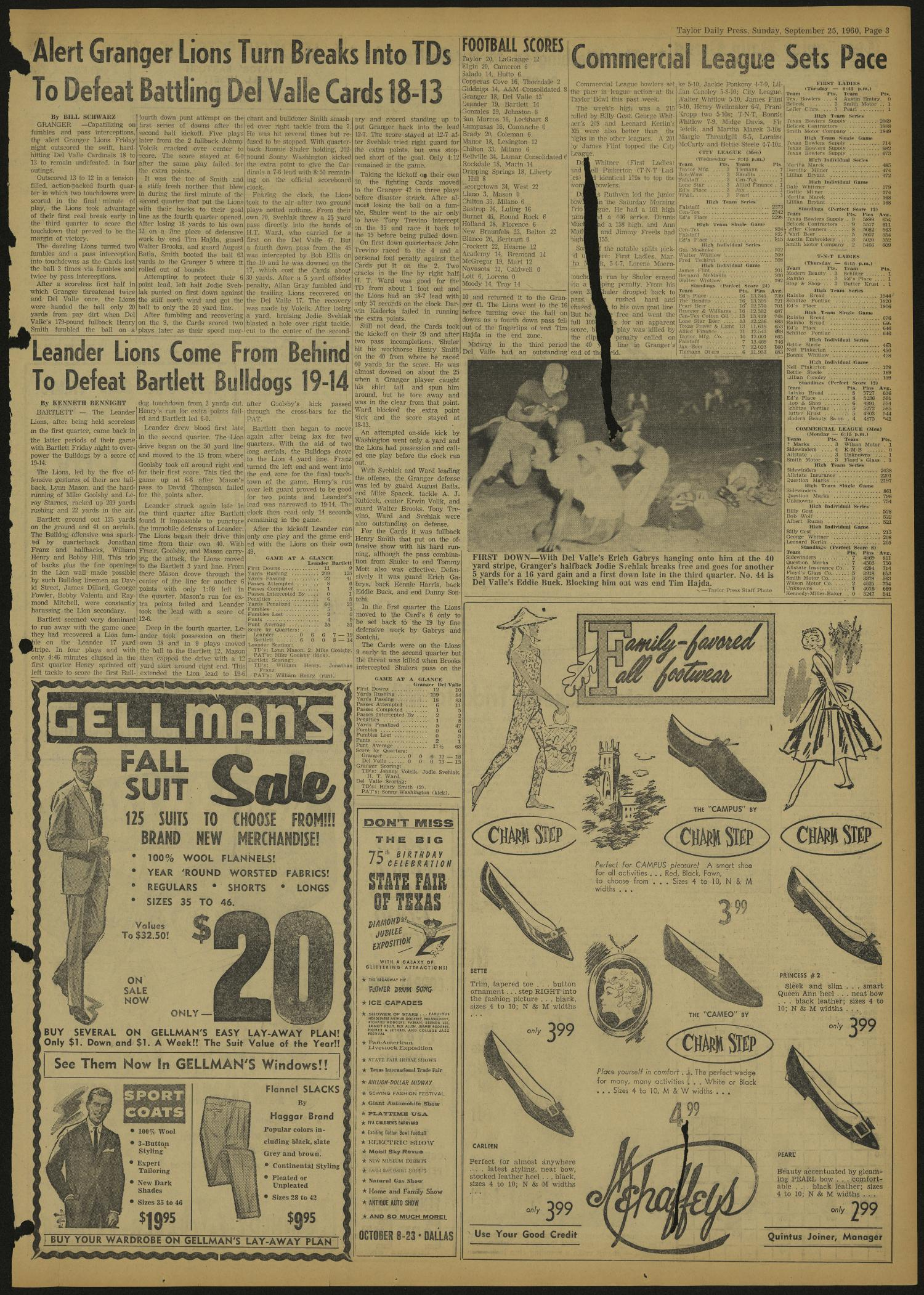 The Taylor Daily Press (Taylor, Tex.), Vol. 47, No. 238, Ed. 1 Sunday, September 25, 1960                                                                                                      [Sequence #]: 3 of 8
