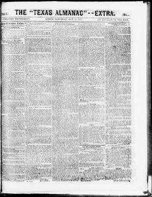 "Primary view of object titled 'The Texas Almanac -- ""Extra."" (Austin, Tex.), Vol. 1, No. 94, Ed. 1, Saturday, May 16, 1863'."