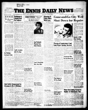 Primary view of object titled 'The Ennis Daily News (Ennis, Tex.), Vol. 63, No. 1, Ed. 1 Saturday, January 2, 1954'.