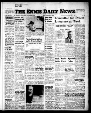 Primary view of object titled 'The Ennis Daily News (Ennis, Tex.), Vol. 63, No. 191, Ed. 1 Saturday, August 14, 1954'.