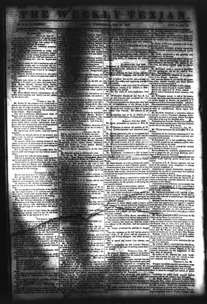 Primary view of object titled 'The Weekly Texian (Austin, Tex.), Vol. 1, No. 10, Ed. 1, Wednesday, January 26, 1842'.
