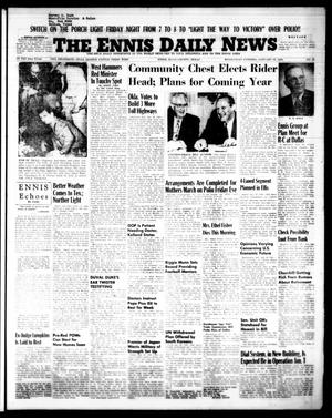 Primary view of object titled 'The Ennis Daily News (Ennis, Tex.), Vol. 63, No. 22, Ed. 1 Wednesday, January 27, 1954'.
