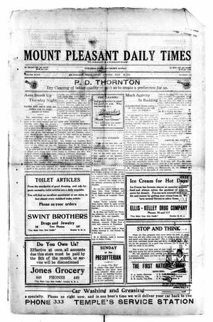 Primary view of object titled 'Mount Pleasant Daily Times (Mount Pleasant, Tex.), Vol. 8, No. 123, Ed. 1 Friday, July 30, 1926'.