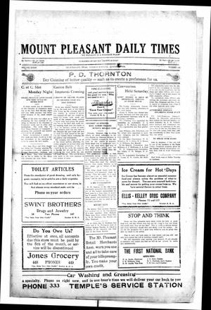 Primary view of object titled 'Mount Pleasant Daily Times (Mount Pleasant, Tex.), Vol. 8, No. 125, Ed. 1 Tuesday, August 3, 1926'.