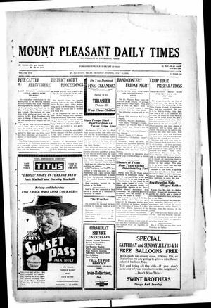 Primary view of object titled 'Mount Pleasant Daily Times (Mount Pleasant, Tex.), Vol. 10, No. 105, Ed. 1 Thursday, July 11, 1929'.