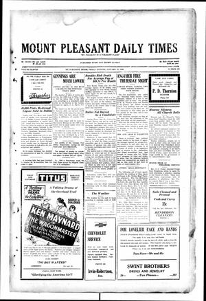 Primary view of object titled 'Mount Pleasant Daily Times (Mount Pleasant, Tex.), Vol. 11, No. 280, Ed. 1 Friday, January 31, 1930'.