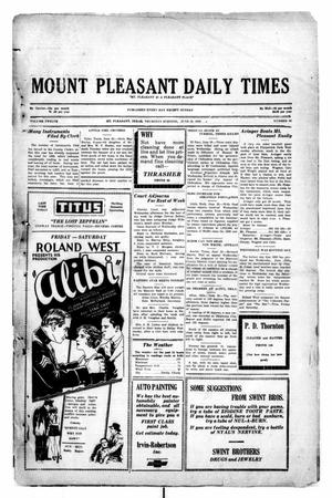 Primary view of object titled 'Mount Pleasant Daily Times (Mount Pleasant, Tex.), Vol. 12, No. 86, Ed. 1 Thursday, June 26, 1930'.
