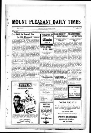 Primary view of object titled 'Mount Pleasant Daily Times (Mount Pleasant, Tex.), Vol. 10, No. 223, Ed. 1 Wednesday, November 27, 1929'.