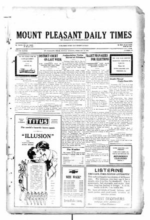 Primary view of object titled 'Mount Pleasant Daily Times (Mount Pleasant, Tex.), Vol. 11, No. 278, Ed. 1 Monday, February 10, 1930'.