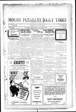 Primary view of object titled 'Mount Pleasant Daily Times (Mount Pleasant, Tex.), Vol. 11, No. 205, Ed. 1 Thursday, March 13, 1930'.