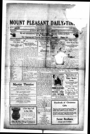 Primary view of object titled 'Mount Pleasant Daily Times (Mount Pleasant, Tex.), Vol. 8, No. 239, Ed. 1 Thursday, December 16, 1926'.