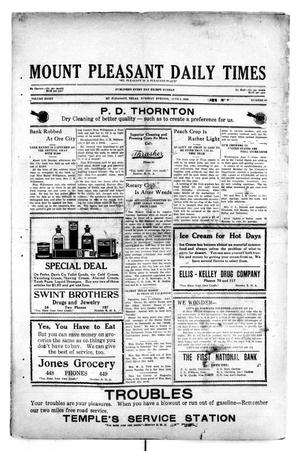 Primary view of object titled 'Mount Pleasant Daily Times (Mount Pleasant, Tex.), Vol. 8, No. 80, Ed. 1 Tuesday, June 8, 1926'.