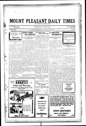 Primary view of object titled 'Mount Pleasant Daily Times (Mount Pleasant, Tex.), Vol. 11, No. 210, Ed. 1 Wednesday, March 19, 1930'.