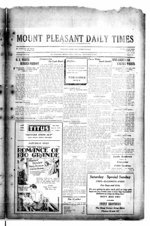 Primary view of object titled 'Mount Pleasant Daily Times (Mount Pleasant, Tex.), Vol. 12, No. 150, Ed. 1 Friday, September 12, 1930'.