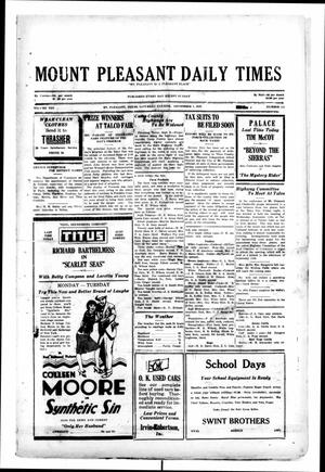 Primary view of object titled 'Mount Pleasant Daily Times (Mount Pleasant, Tex.), Vol. 10, No. 155, Ed. 1 Saturday, September 7, 1929'.