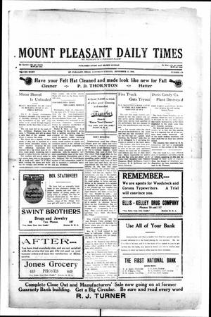 Primary view of object titled 'Mount Pleasant Daily Times (Mount Pleasant, Tex.), Vol. 8, No. 159, Ed. 1 Saturday, September 11, 1926'.