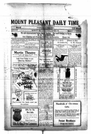 Primary view of object titled 'Mount Pleasant Daily Times (Mount Pleasant, Tex.), Vol. 8, No. 233, Ed. 1 Thursday, December 9, 1926'.
