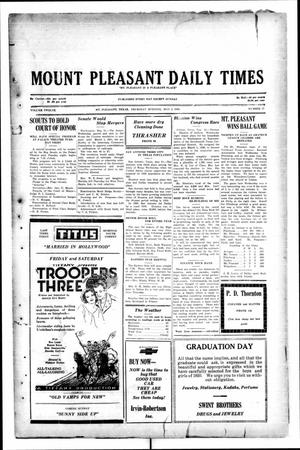 Primary view of object titled 'Mount Pleasant Daily Times (Mount Pleasant, Tex.), Vol. 12, No. 57, Ed. 1 Thursday, May 22, 1930'.