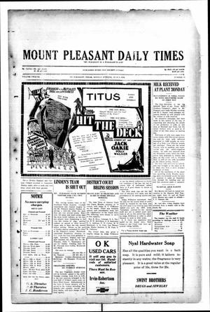 Primary view of object titled 'Mount Pleasant Daily Times (Mount Pleasant, Tex.), Vol. 12, No. 71, Ed. 1 Monday, June 9, 1930'.
